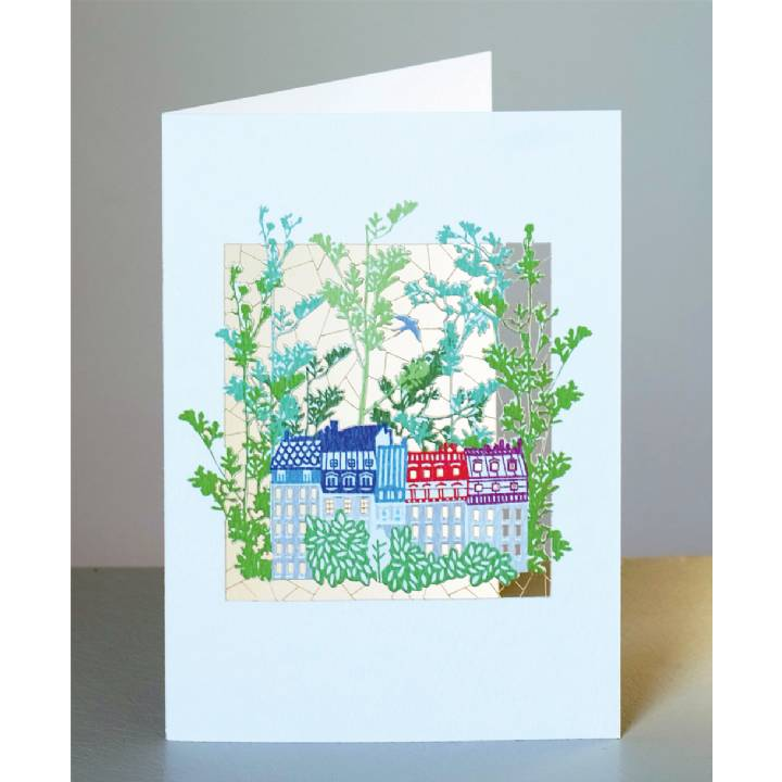 Houses and trees (pack of 6)
