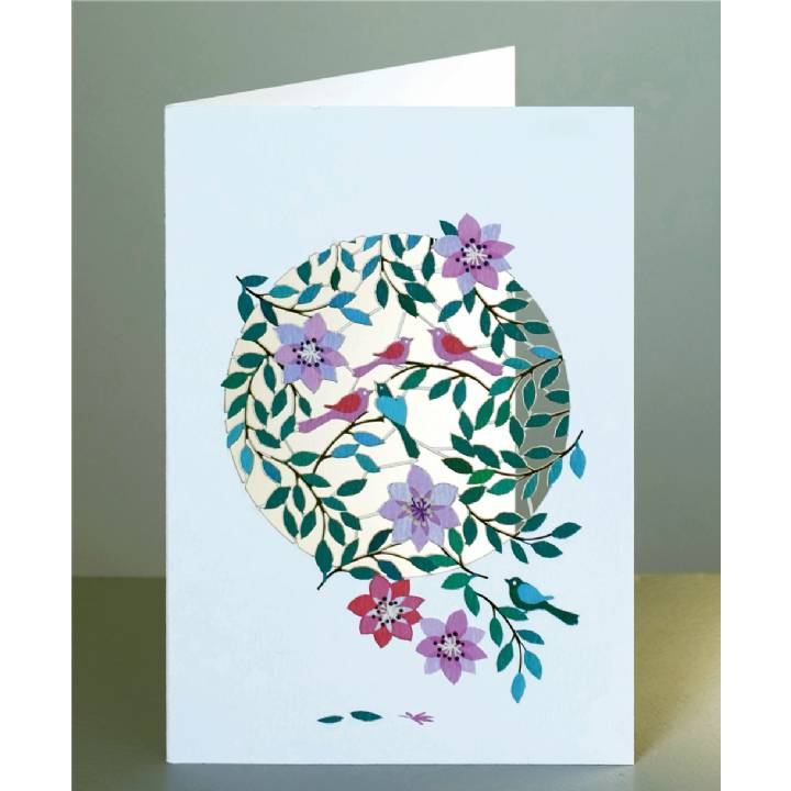 Birds and flowers (pack of 6)