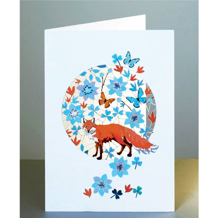 Fox and butterflies (pack of 6)