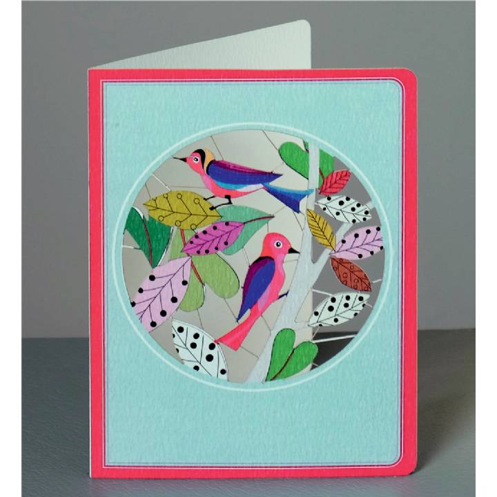 Multi-coloured birds (pack of 6)