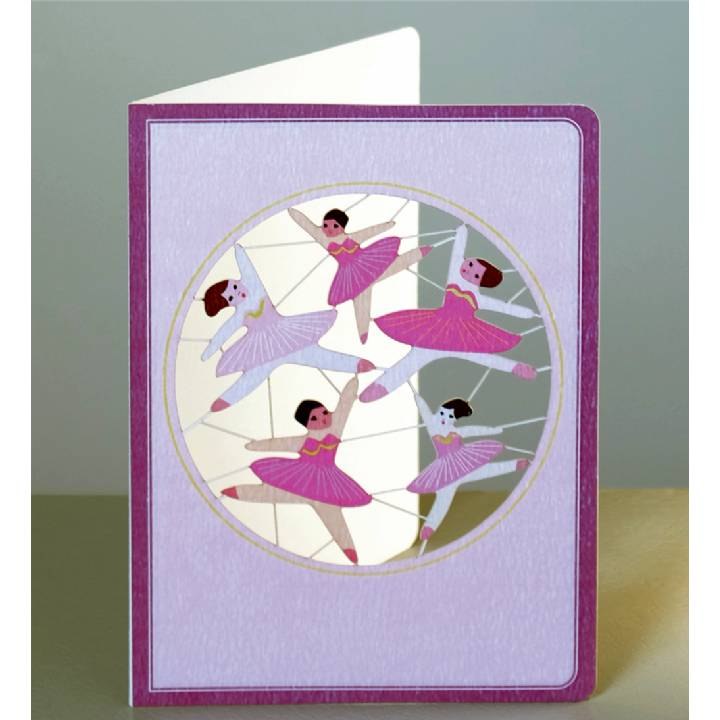 Little girl pink ballerinas (pack of 6)