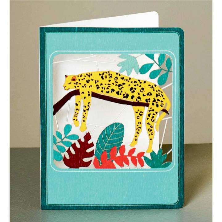 Sleeping leopard (pack of 6)