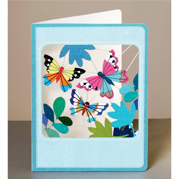 Butterflies and leaves (pack of 6)