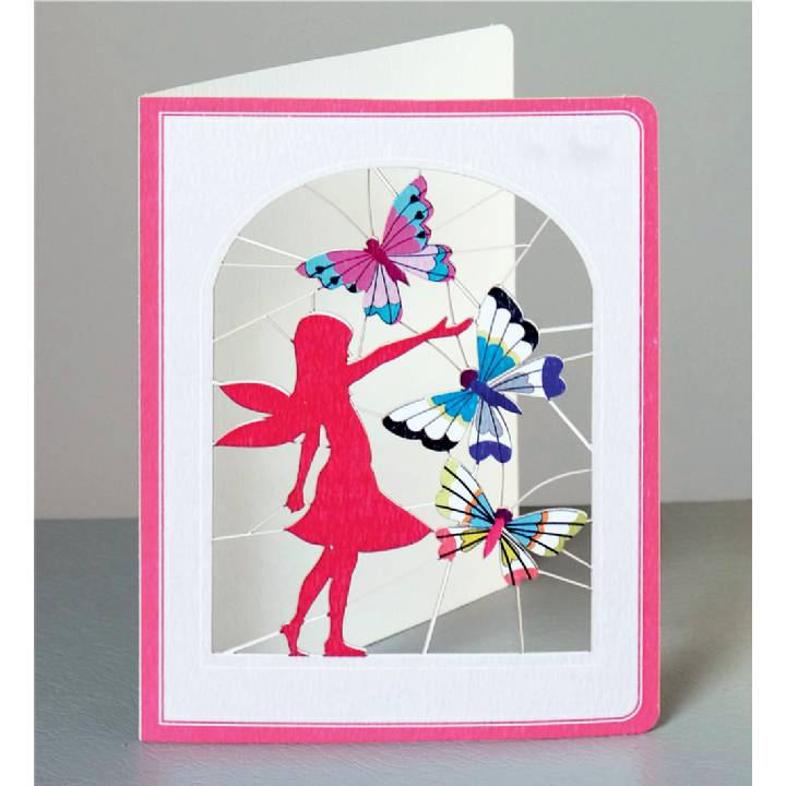 Fairy with butterflies (pack of 6)