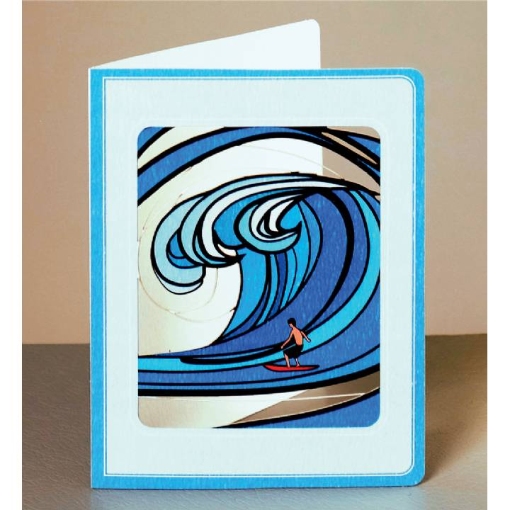 Wave and surfer (pack of 6)
