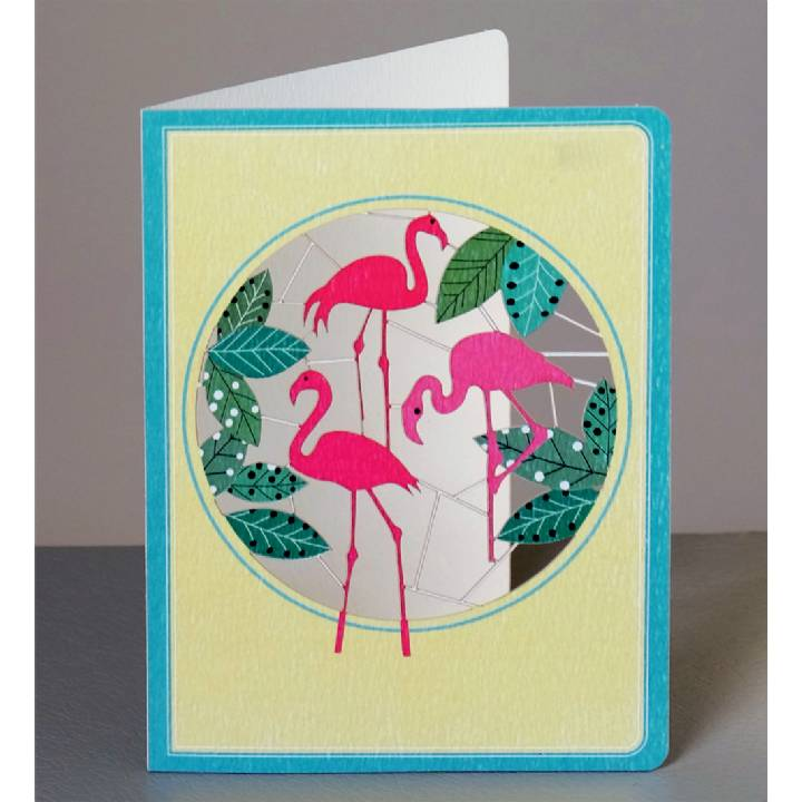 Three flamingos (pack of 6)