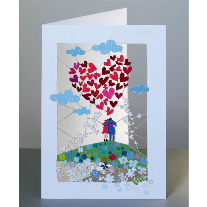 Couple and big heart (pack of 6)