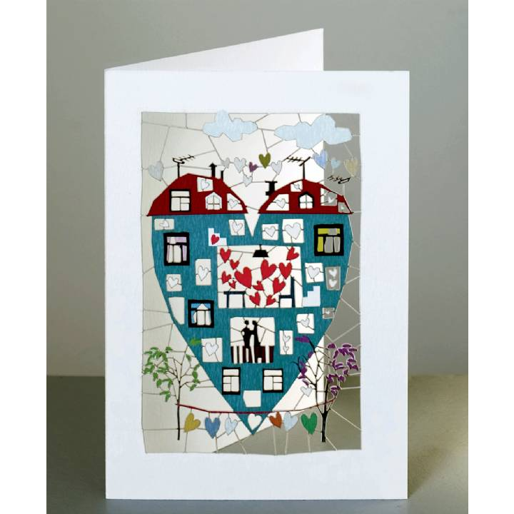 Heart-shaped house (pack of 6)