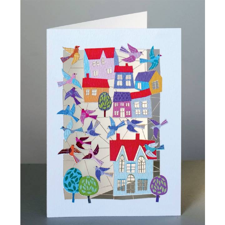 Birds and houses (pack of 6)