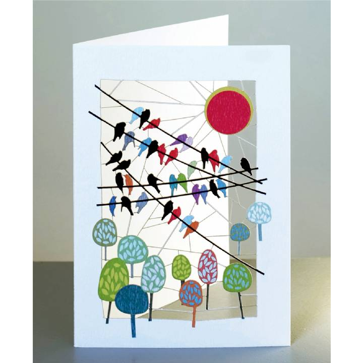 Birds on wires (pack of 6)