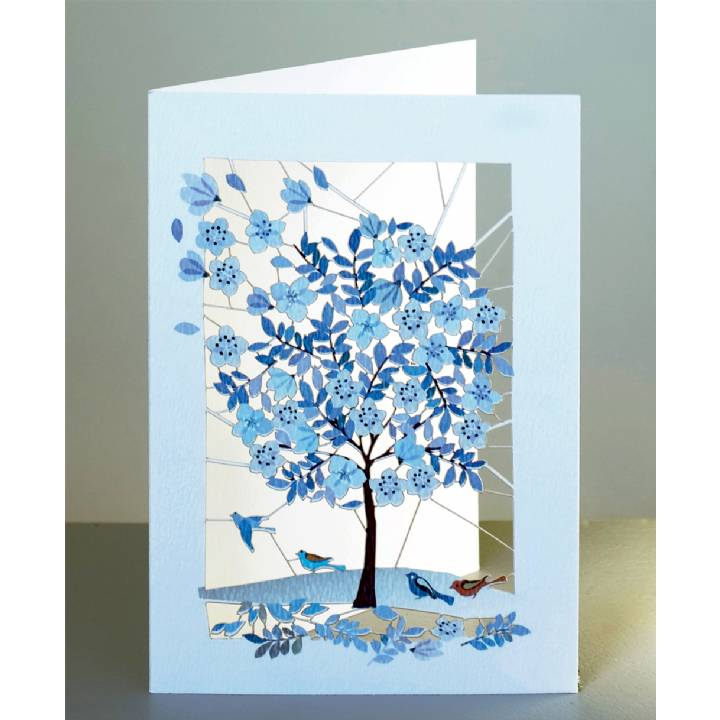 Blue tree (pack of 6)