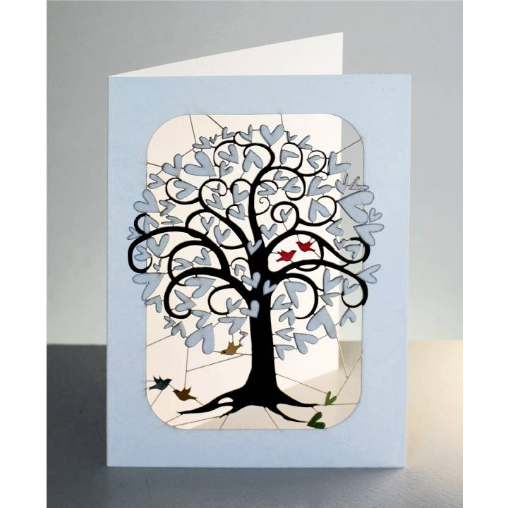 Curling white heart tree (pack of 6)