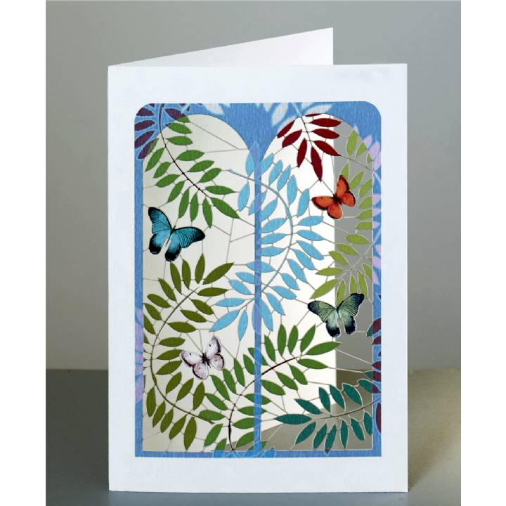 Butterflies through the window (pack of 6)