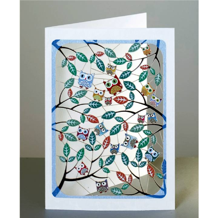 Owls in the leaves (pack of 6)