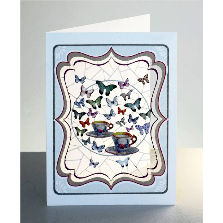 Teacups and butterflies (pack of 6)