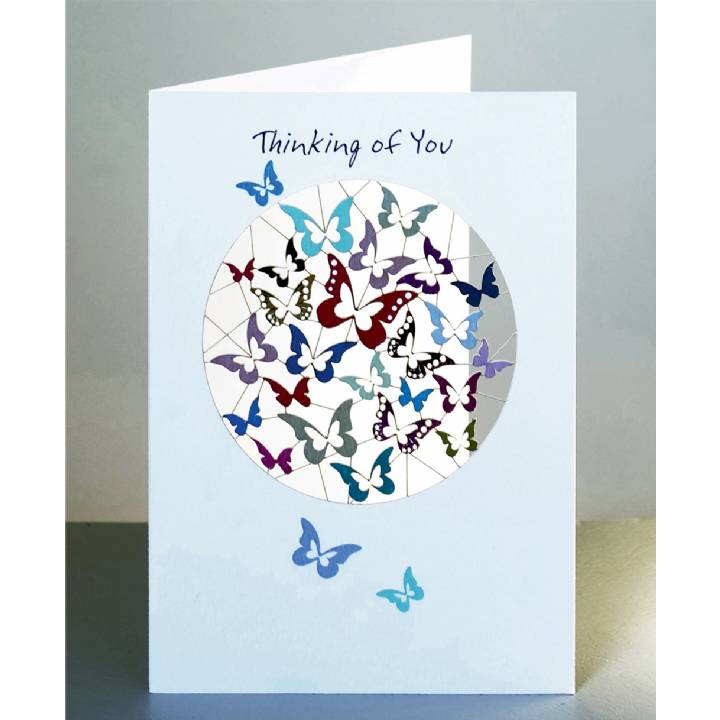Thinking of you - butterflies (pack of 6)