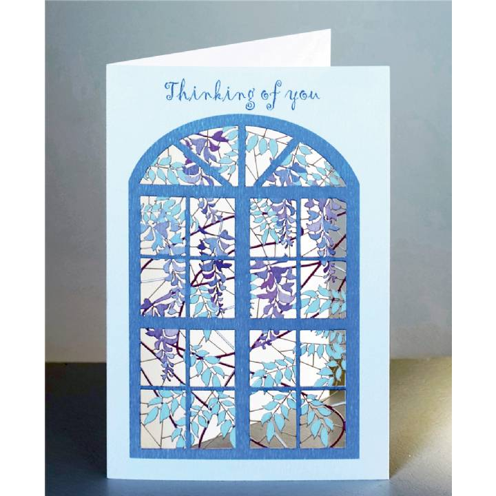 Thinking of you - wisteria and window (pack of 6)