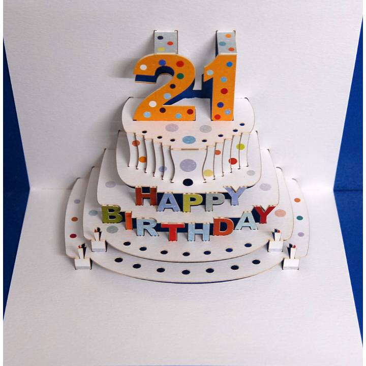 Age 21 birthday cake (pack of 6)