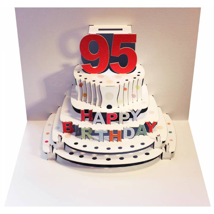 Age 95 birthday cake (pack of 6)