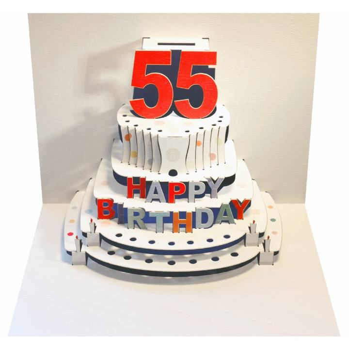 Fabulous Age 55 Birthday Cake Pack Of 6 3D Pop Up Birthday Personalised Birthday Cards Paralily Jamesorg