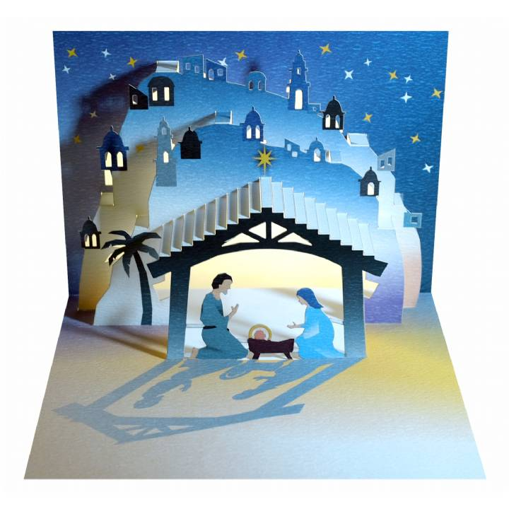 Christmas nativity - stable (pack of 6)