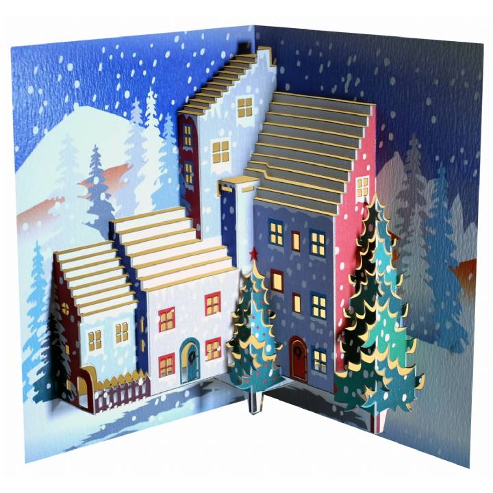 Christmas village (pack of 6)