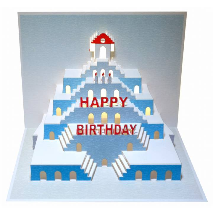 Happy Birthday stairs (pack of 6)