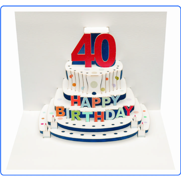 Age 40 birthday cake (pack of 6)