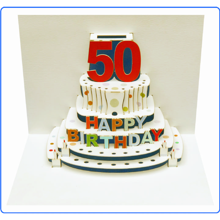 Age 50 birthday cake (pack of 6)