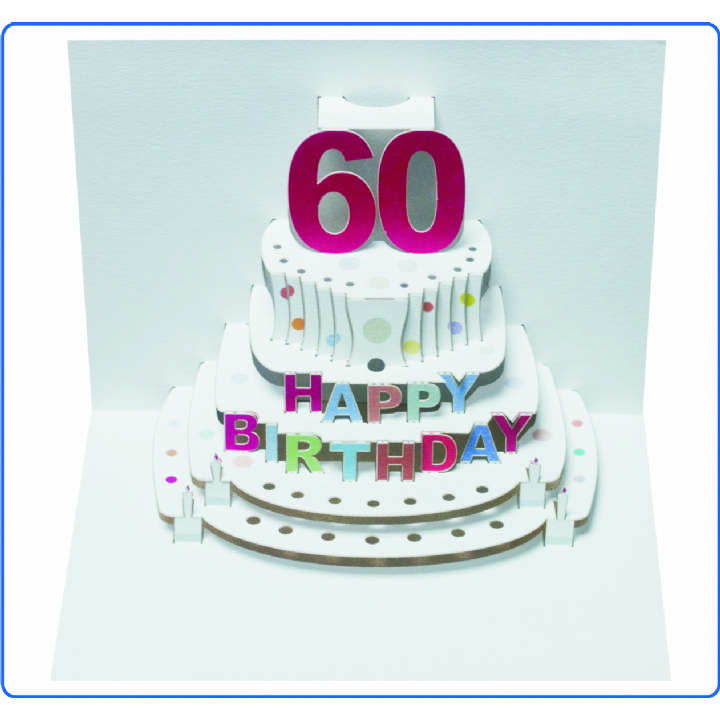 Age 60 birthday cake (pack of 6)