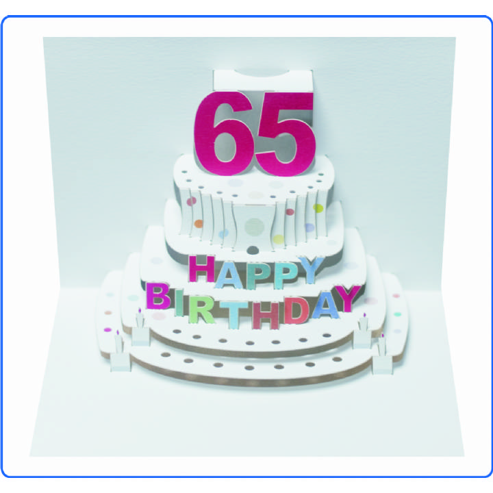 Age 65 Birthday Cake Pack Of 6 Age Birthday