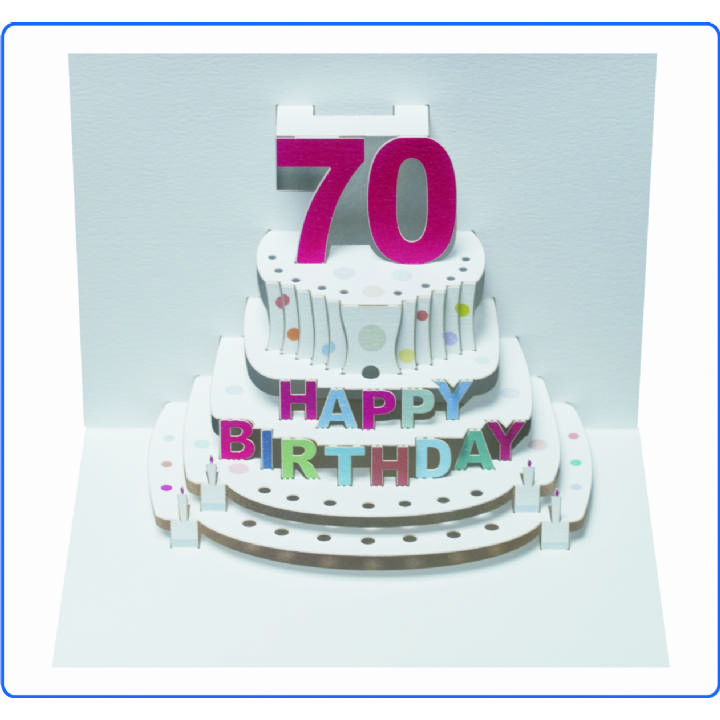 Age 70 birthday cake (pack of 6)