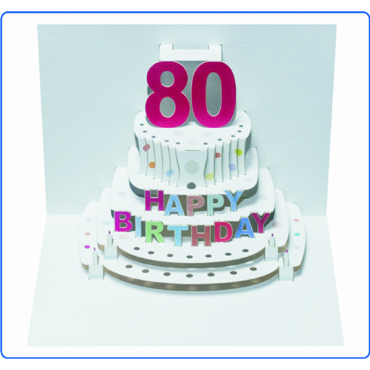 Age 80 birthday cake (pack of 6)