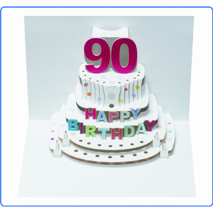 Age 90 birthday cake (pack of 6)