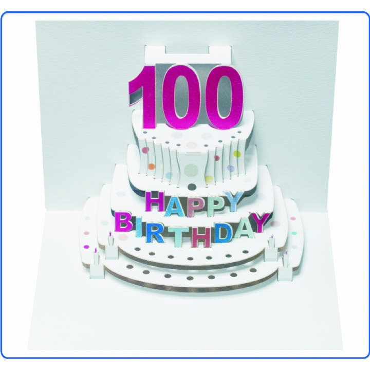 Age 100 birthday cake (pack of 6)