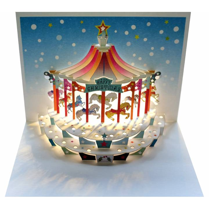 Happy Christmas carousel (pack of 6)