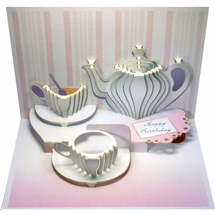Birthday tea set (pack of 6)
