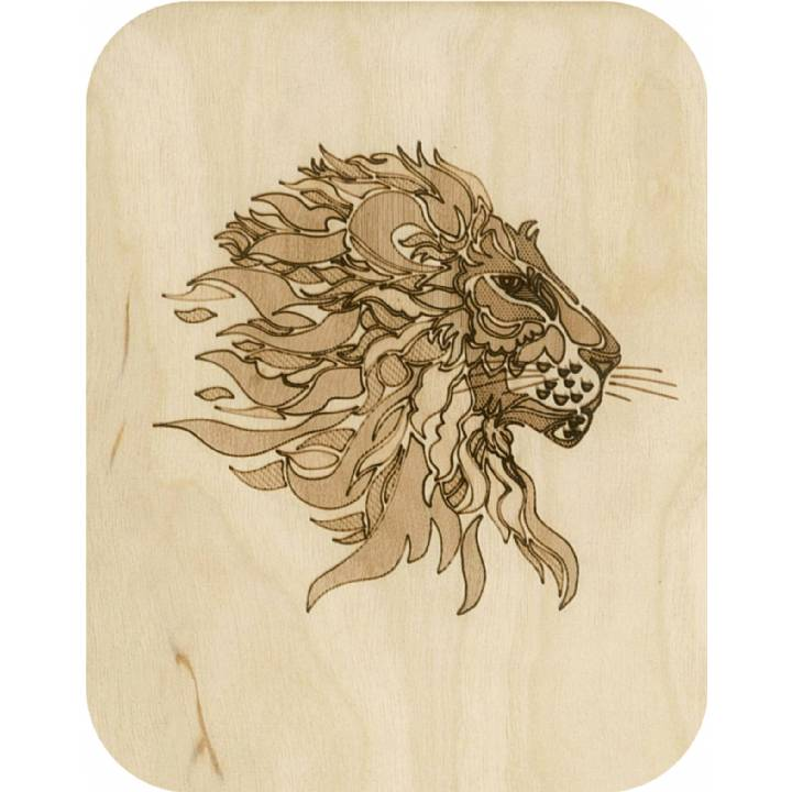 Wooden - lion (pack of 6)
