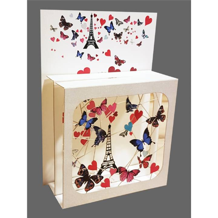 Butterflies and the Eiffel Tower (pack of 6)