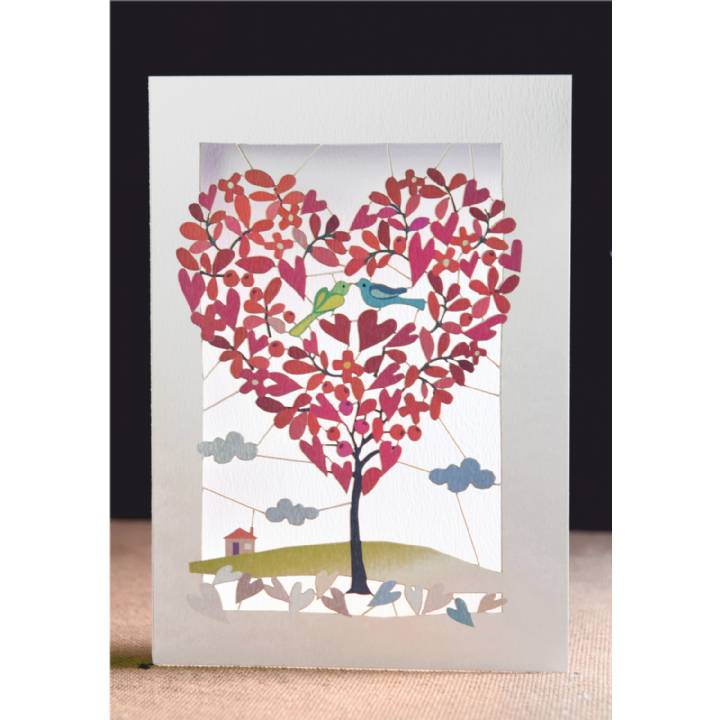 Heart-shaped tree (pack of 6)