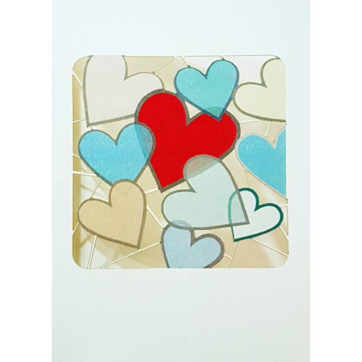 Jumbled hearts (pack of 6)