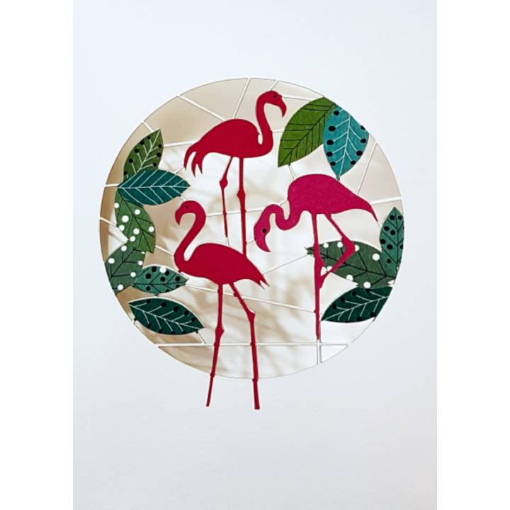 Happy flamingos(pack of 6)