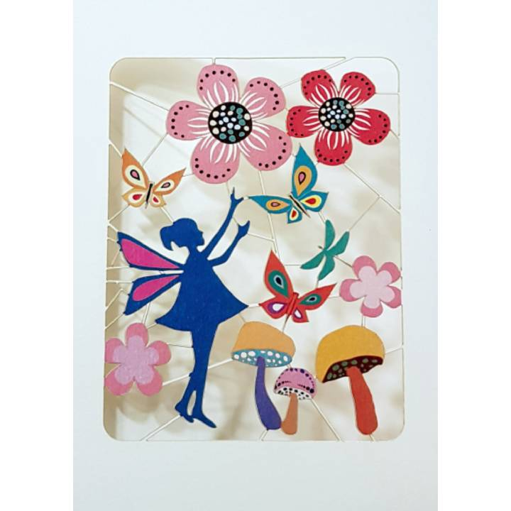 Little fairy amongst the flowers (pack of 6)