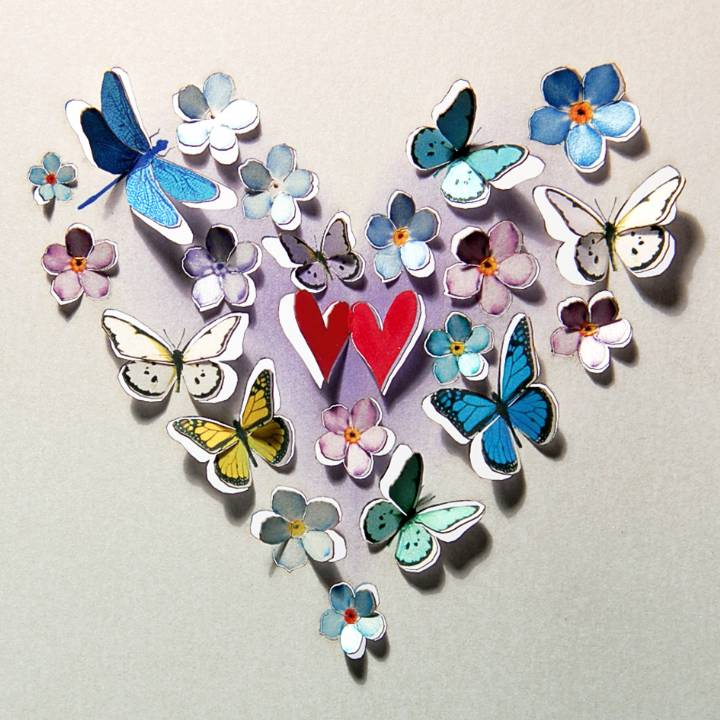 Magical hearts (pack of 6)