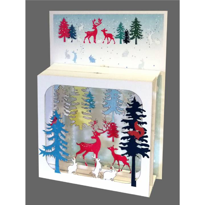 Christmas - Deer in Forest (pack of 6)