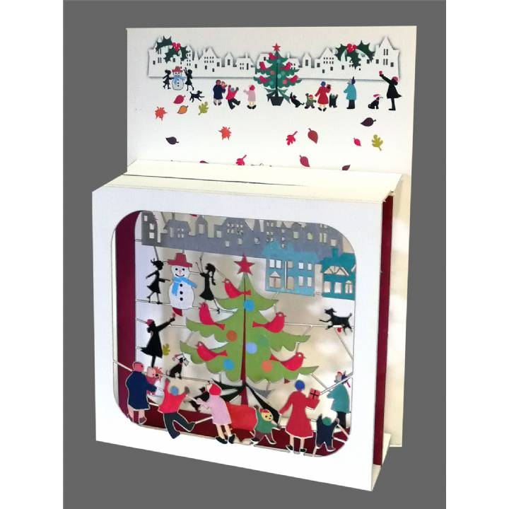 Christmas - Outdoor tree and snowmen (pack of 6)