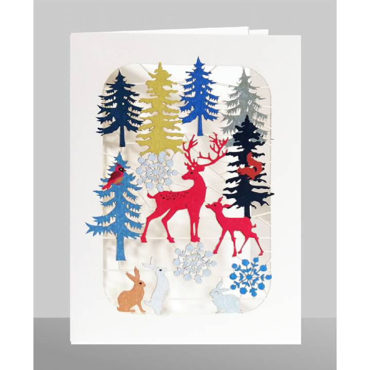Red deer in forest (pack of 6)