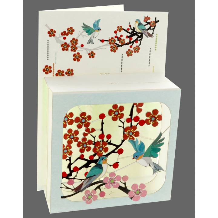 Spring day birds and blossoms (pack of 6)