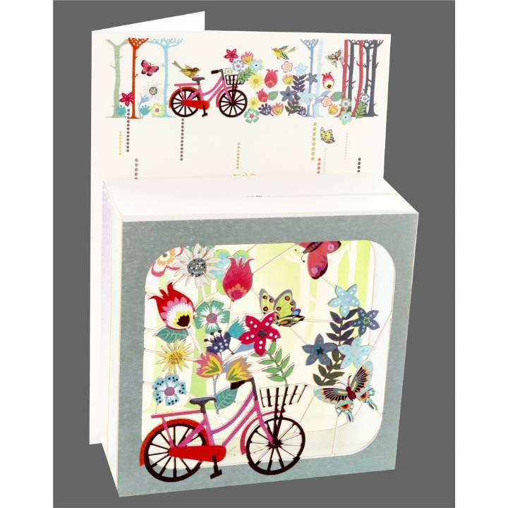 Floral Bicycle (pack of 6)