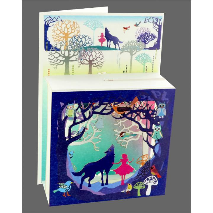 Girl and wolf (pack of 6)